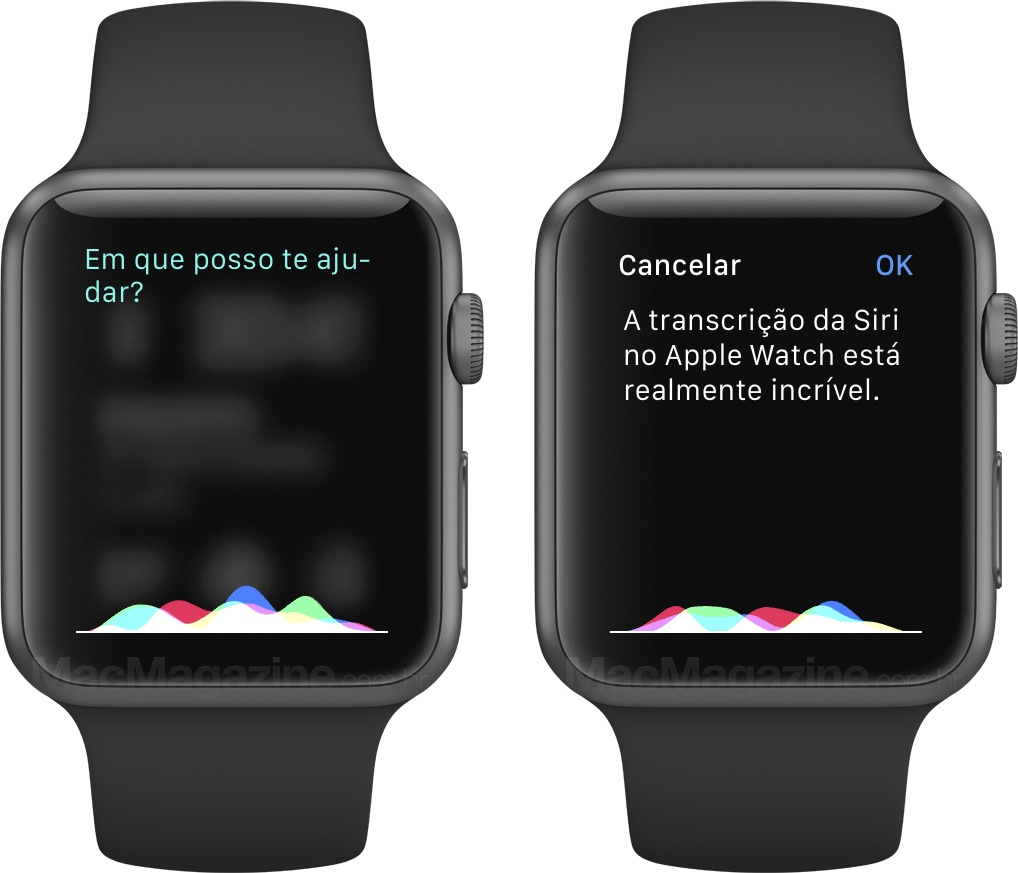 Review do Apple Watch - Siri