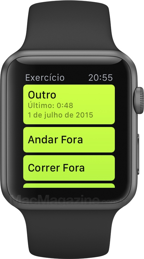 Review do Apple Watch - Exercício