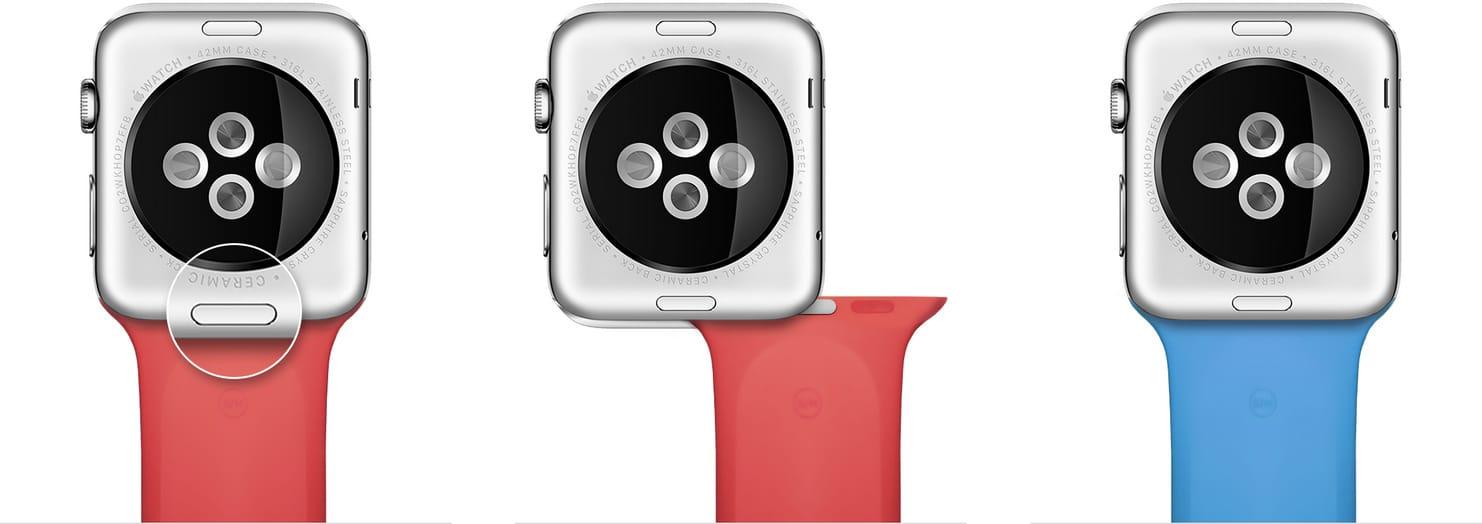 Trocando as pulseiras do Apple Watch
