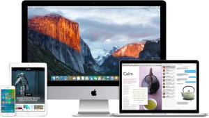 iOS 9 em iGadgets e OS X El Capitan 10.11 em Macs