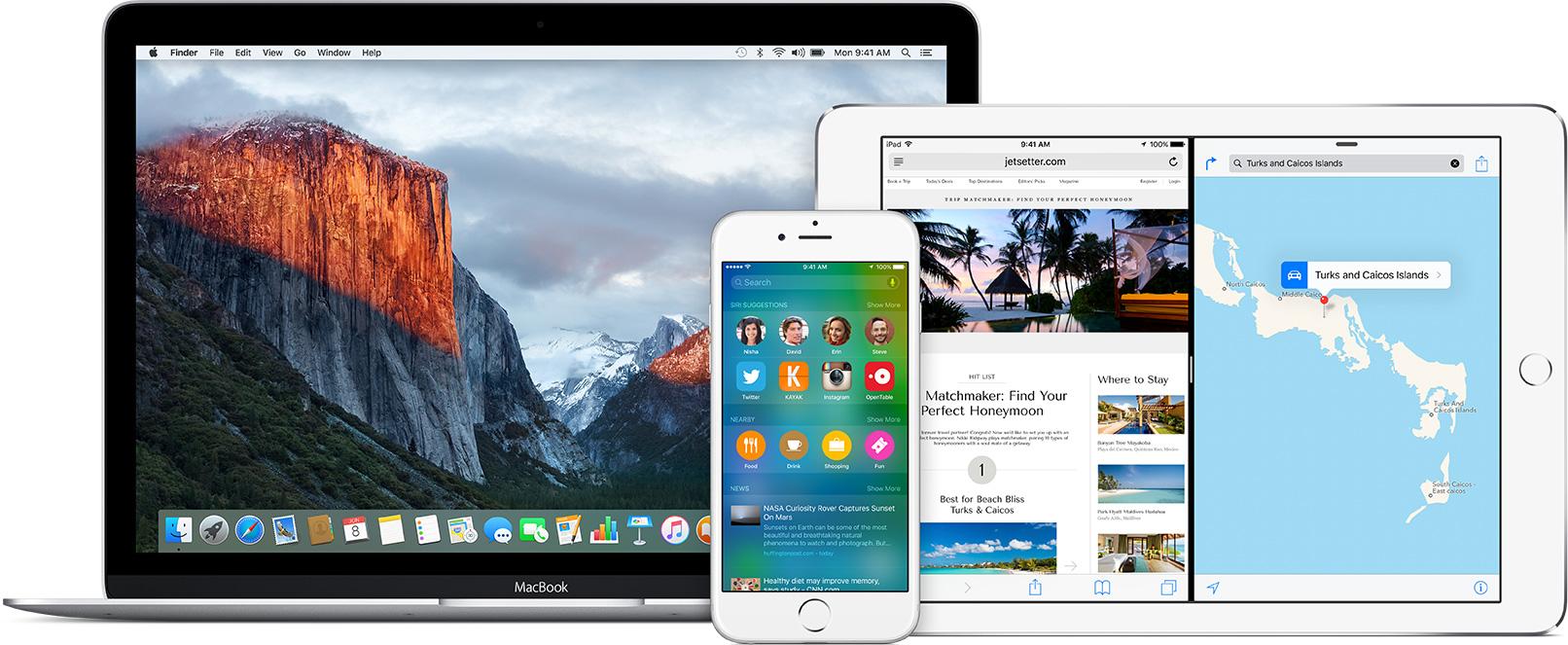 Betas do iOS 9 e do OS X El Capitan 10.11