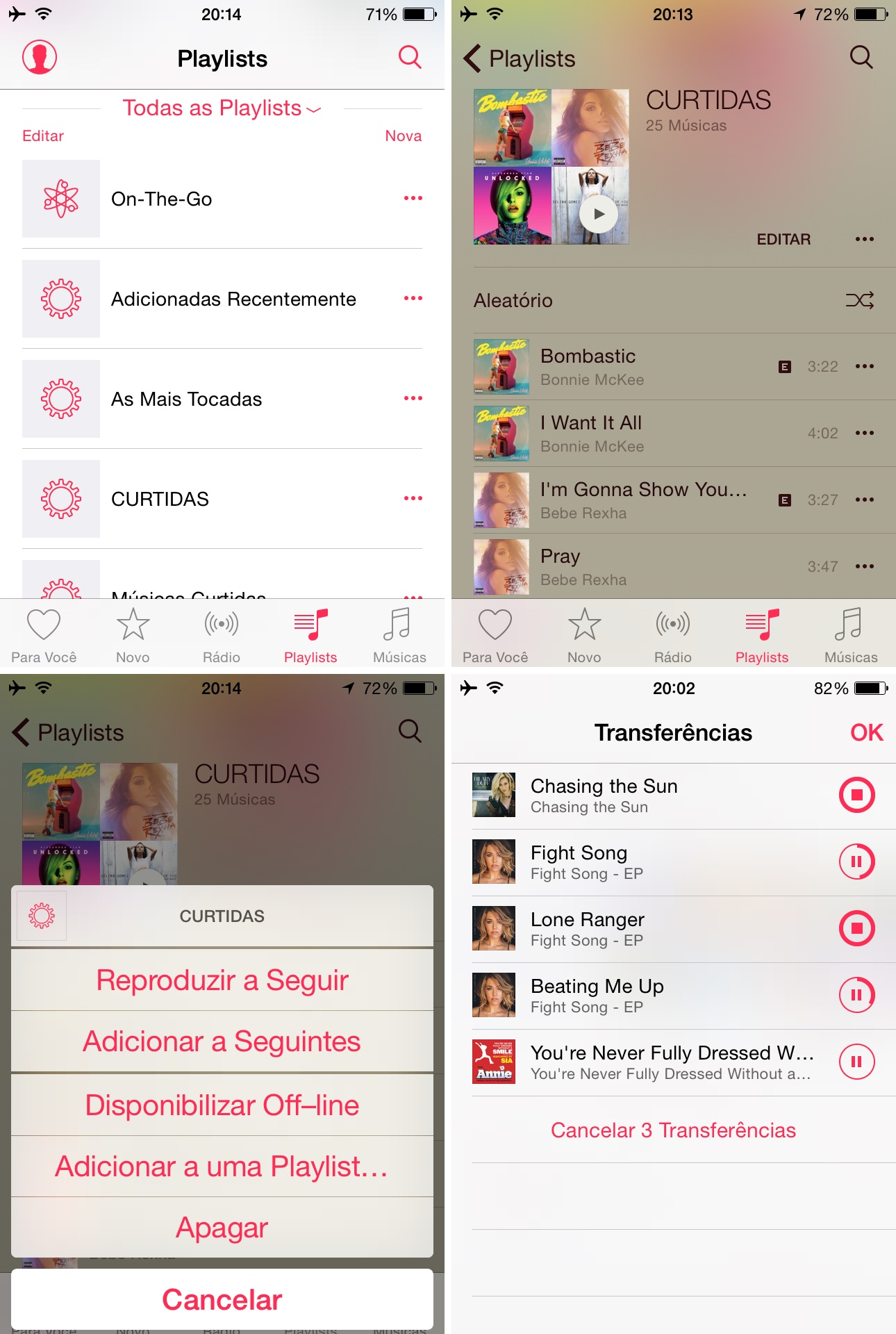 Criando uma playlist com músicas curtidas no Apple Music
