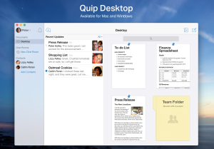 Quip para desktop