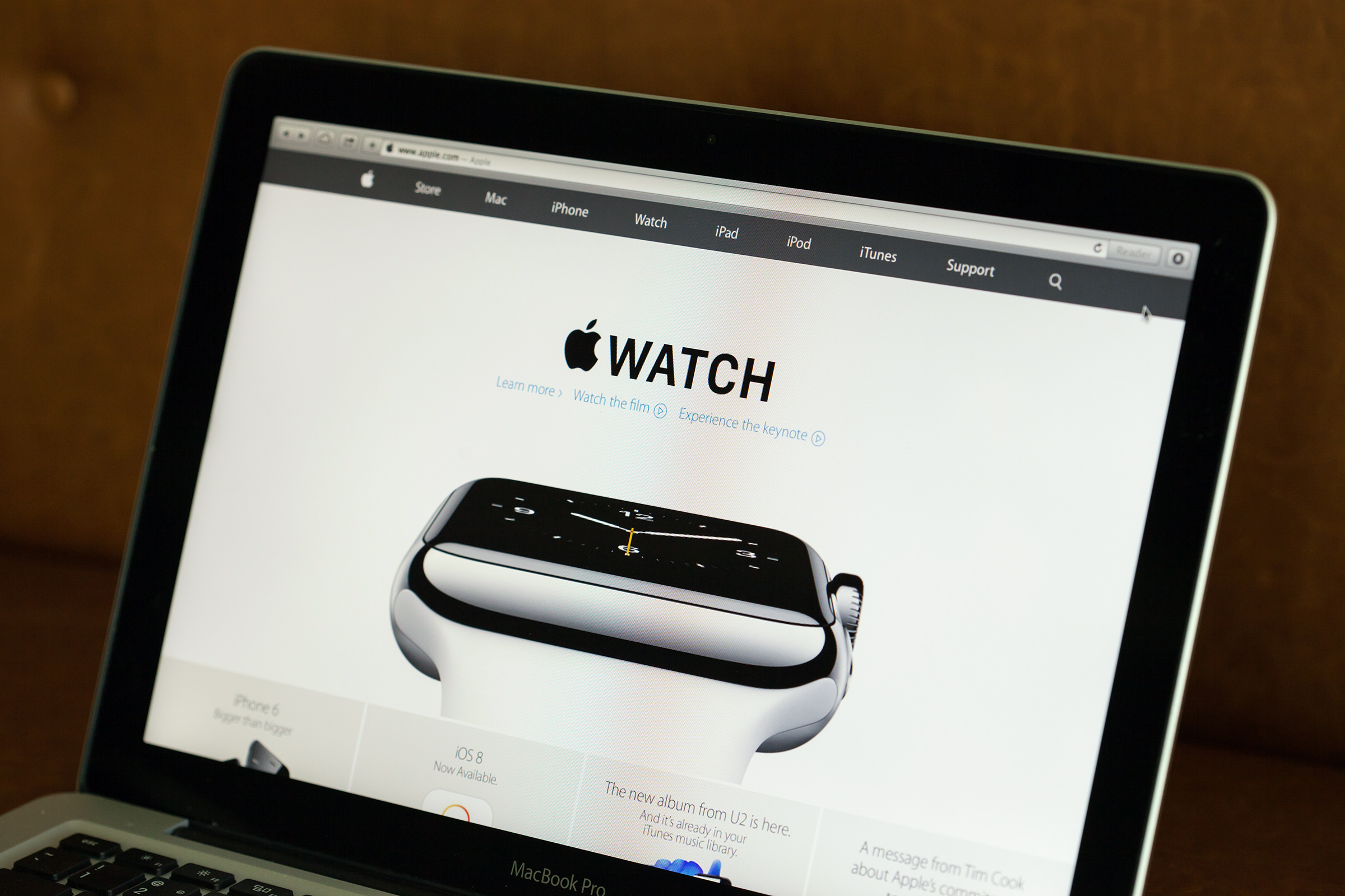 Apple Watch no site da Apple