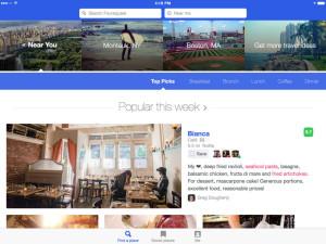 Screenshot do Foursquare