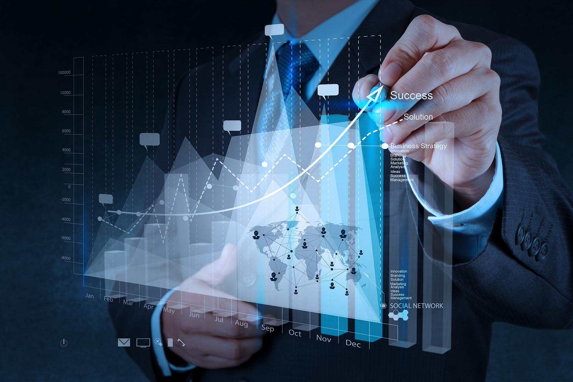 Negócios e gráfico