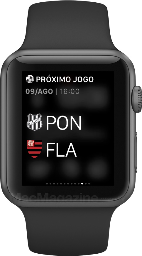 App Flamengo SporTV no Apple Watch