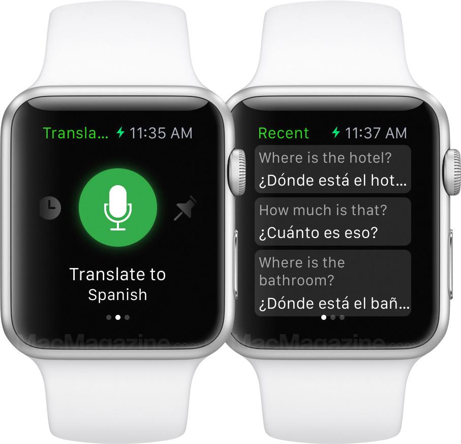 Microsoft Translator no Apple Watch