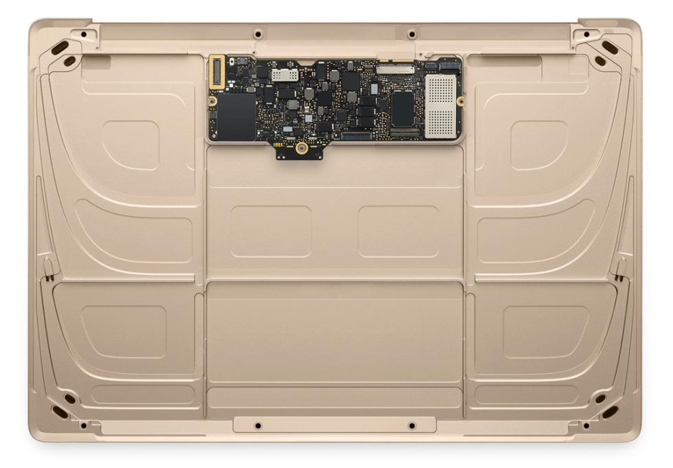 Novo MacBook por dentro, sem a bateria