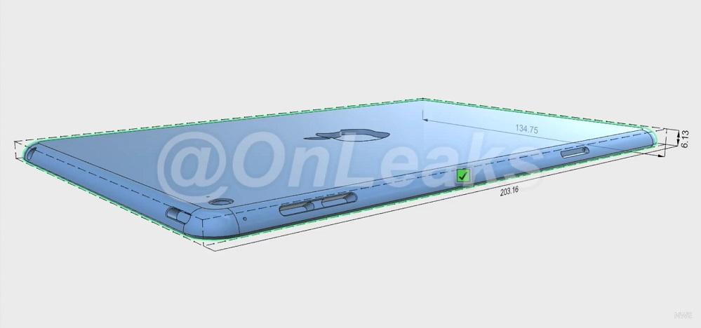 Render 3D do iPad mini 4