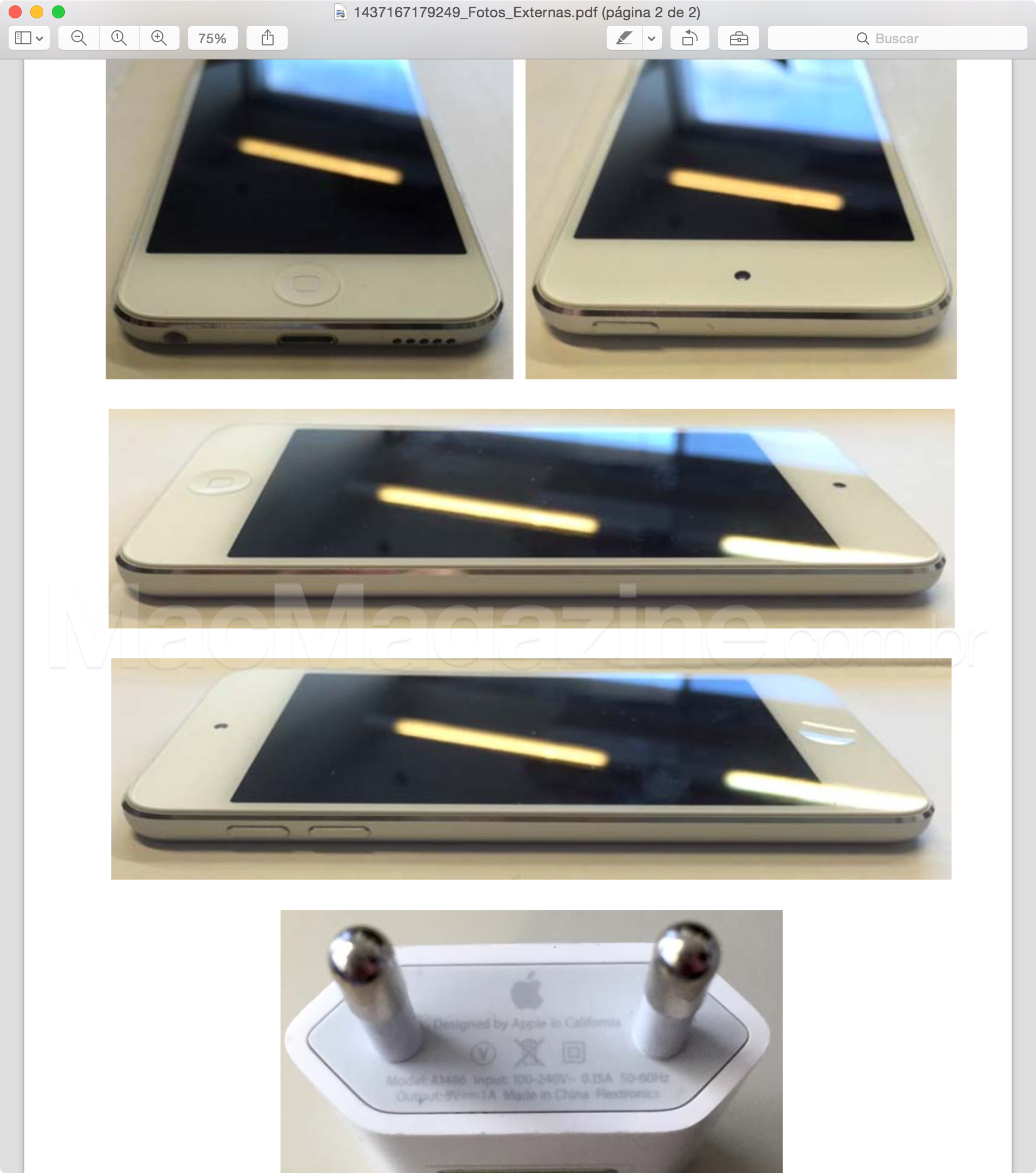 ANATEL homologa iPod touch