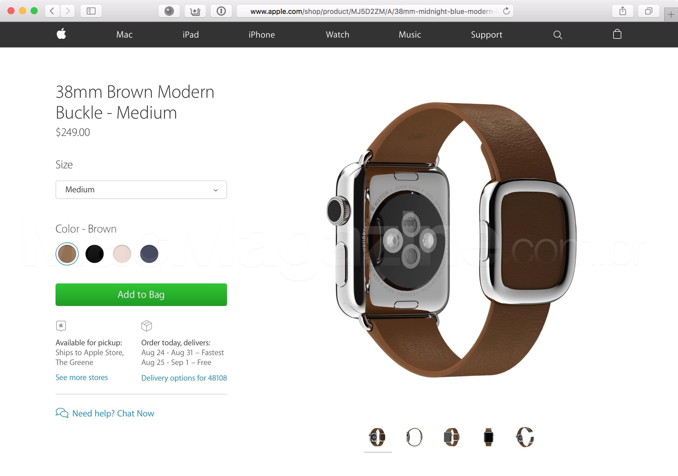 Pulseira com fecho moderno do Apple Watch