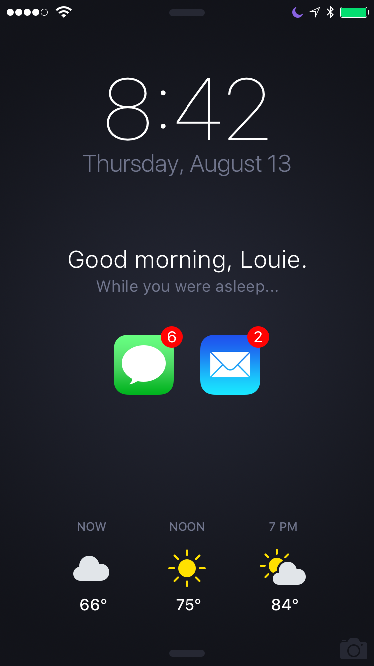 Conceito de Tela Bloqueada no iOS