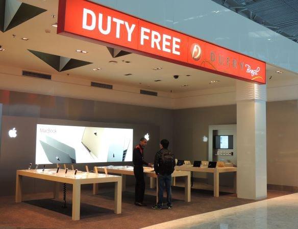 Apple shop no Duty Free Dufry de Guarulhos