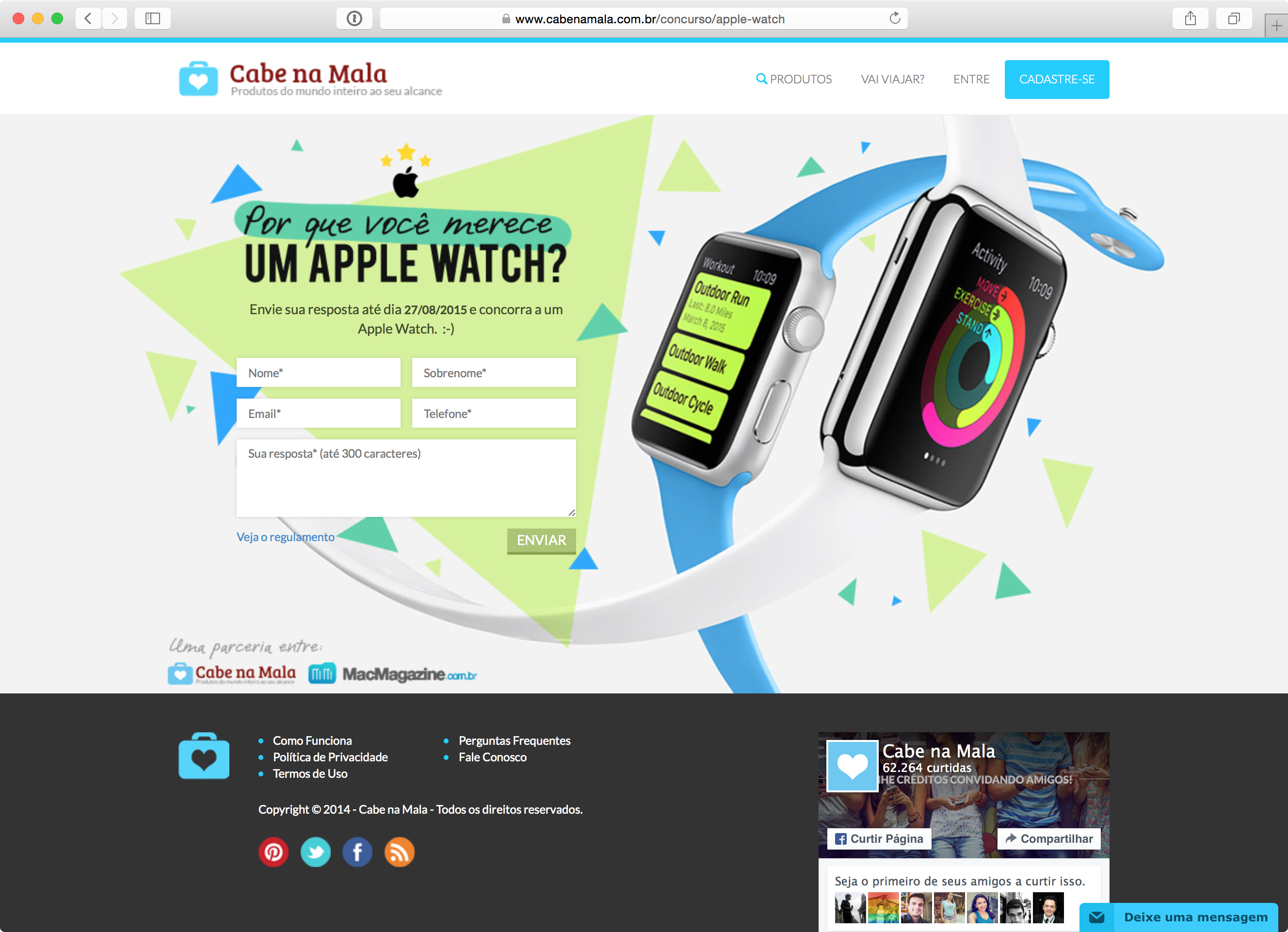 Concurso Cultural do Apple Watch
