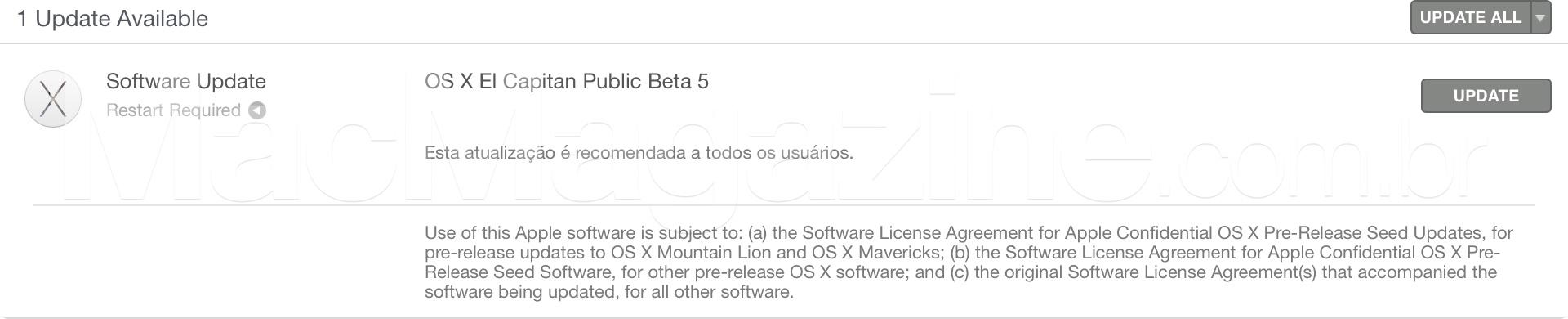 Beta público do OS X El Capitan 10.11