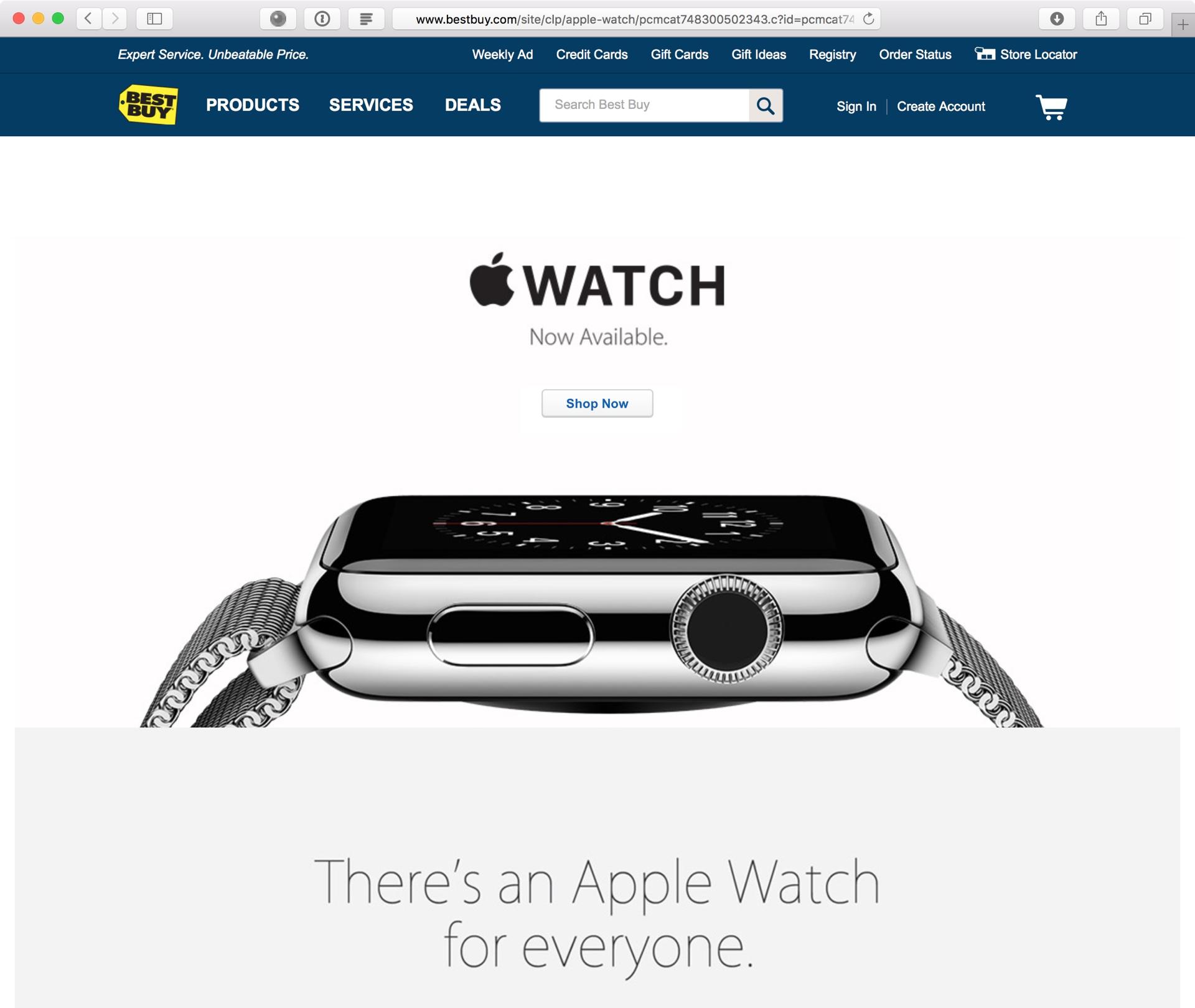 Apple Watch à venda na Best Buy