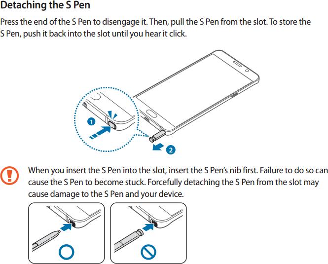 Manual do Note5 - S Pen