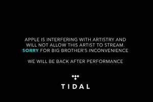 TIDAL acusando Apple