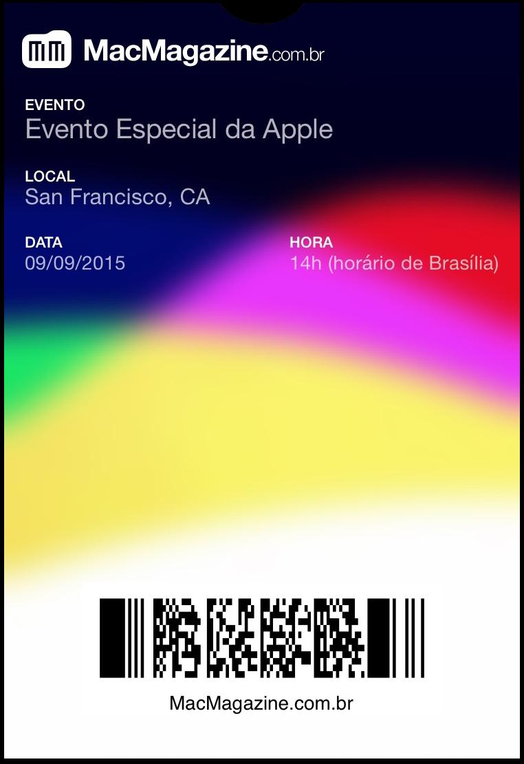 Passbook - Evento especial de setembro de 2015