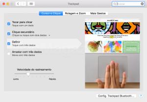 Toque de três dedos no Safari