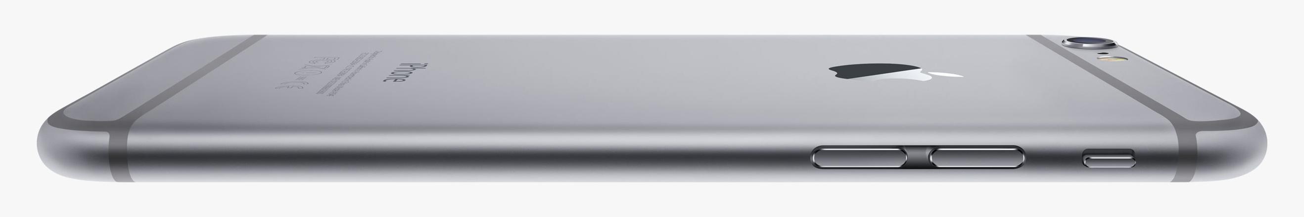iPhone 6 deitado e de lado
