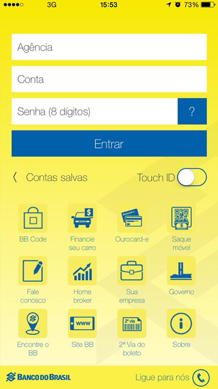 Banco do Brasil para iPhone