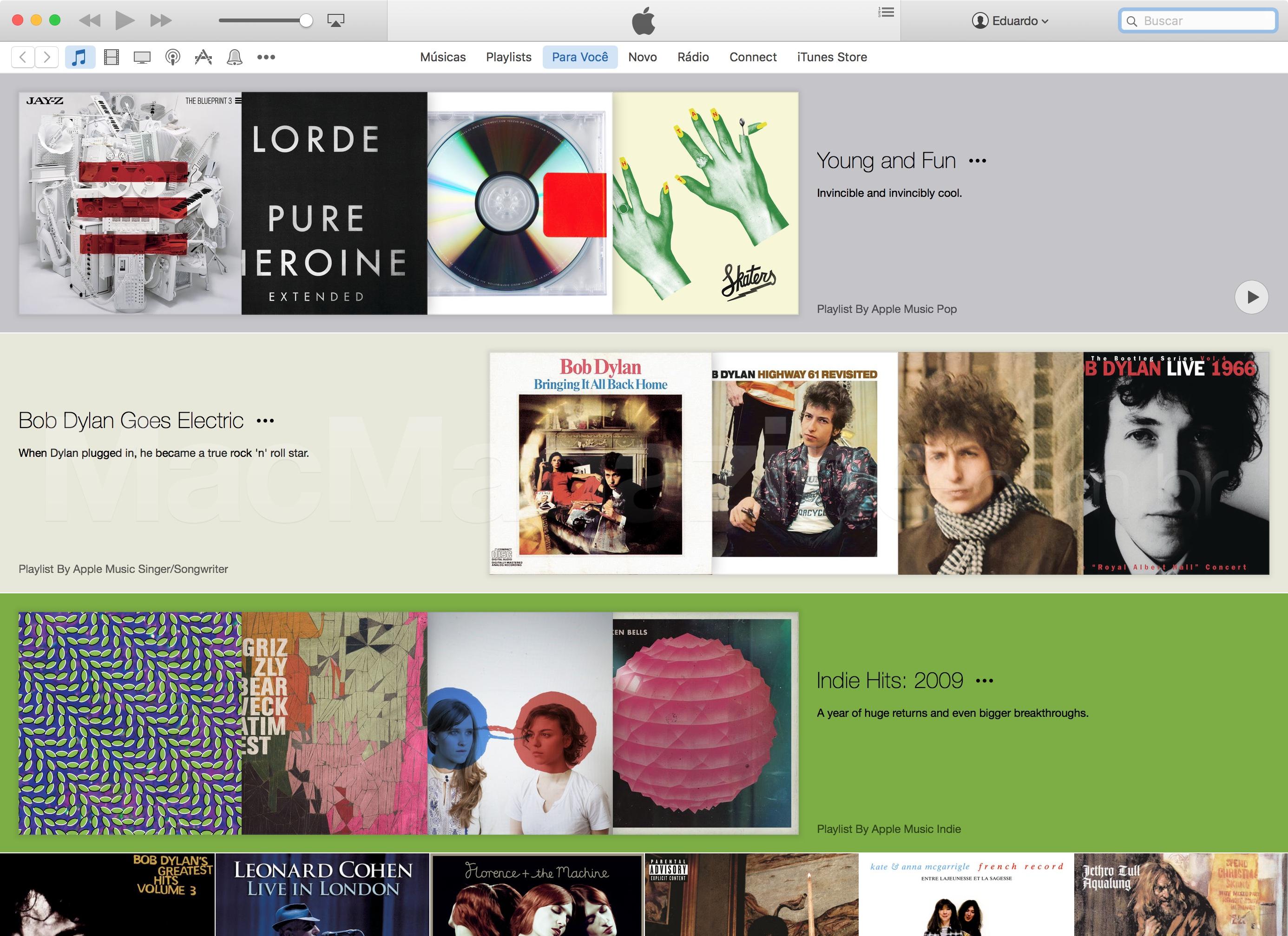 Apple Music no iTunes