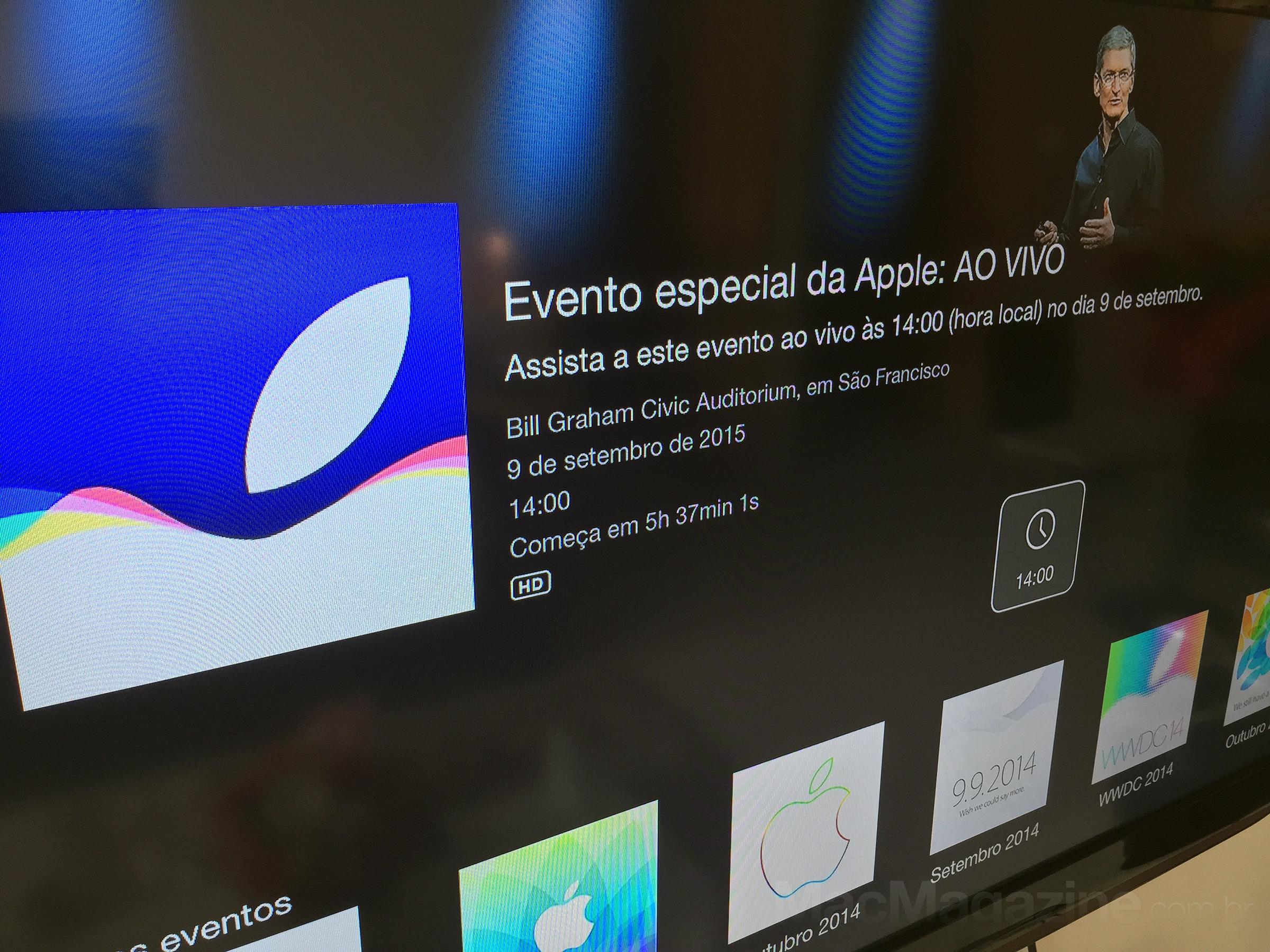 Canal do evento especial na Apple TV