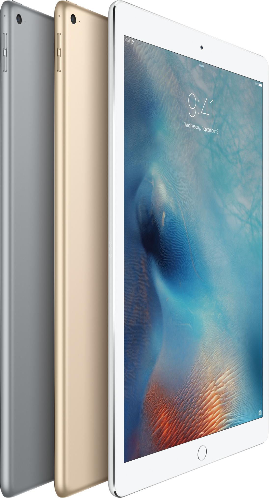 Cores do iPad Pro - cinza espacial, dourado e prateado