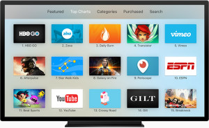 Ícone do Periscope na Apple TV