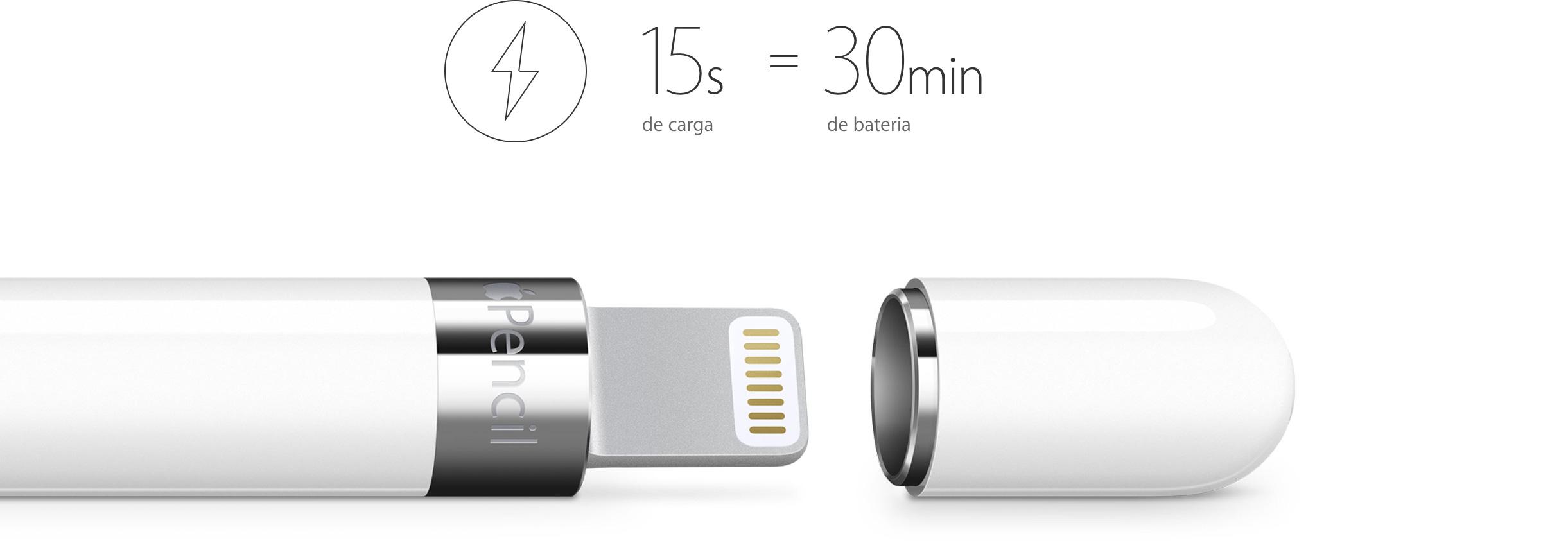 Recarga da bateria do Apple Pencil