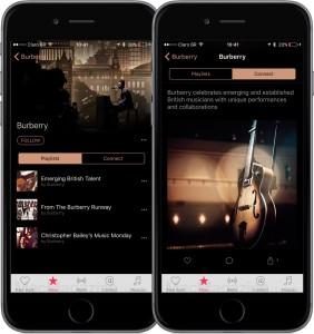 Canal da Burberry no Apple Music