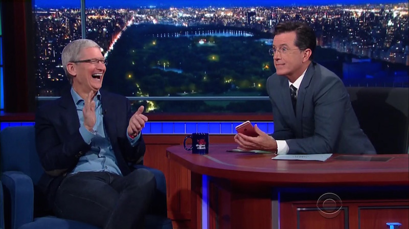 Tim Cook com Stephen Colbert