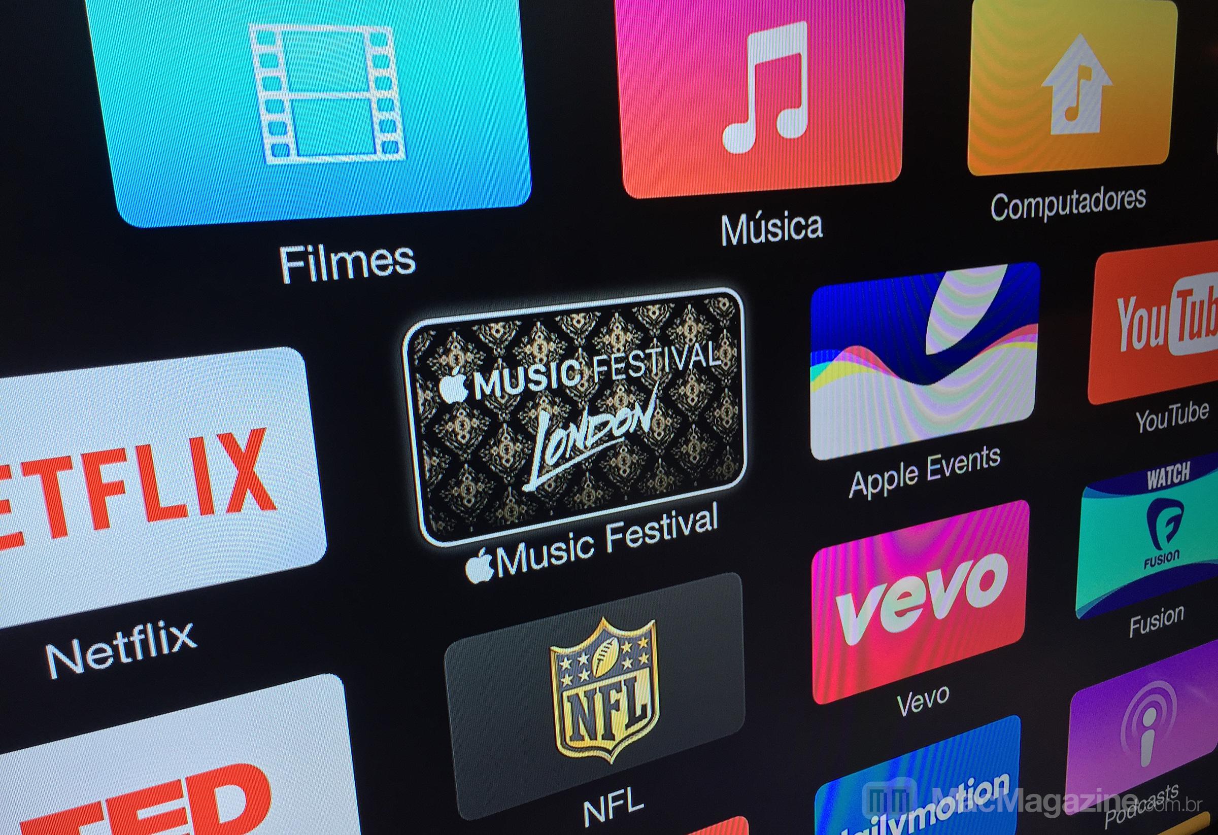Canal do Apple Music Festival na Apple TV