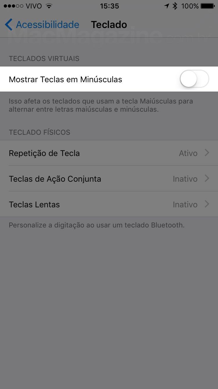 Teclado do iOS 9