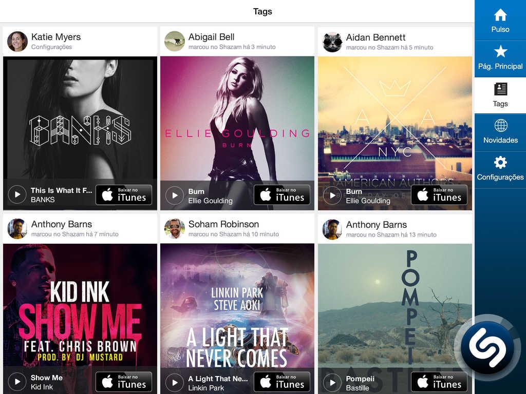 Shazam para iPad