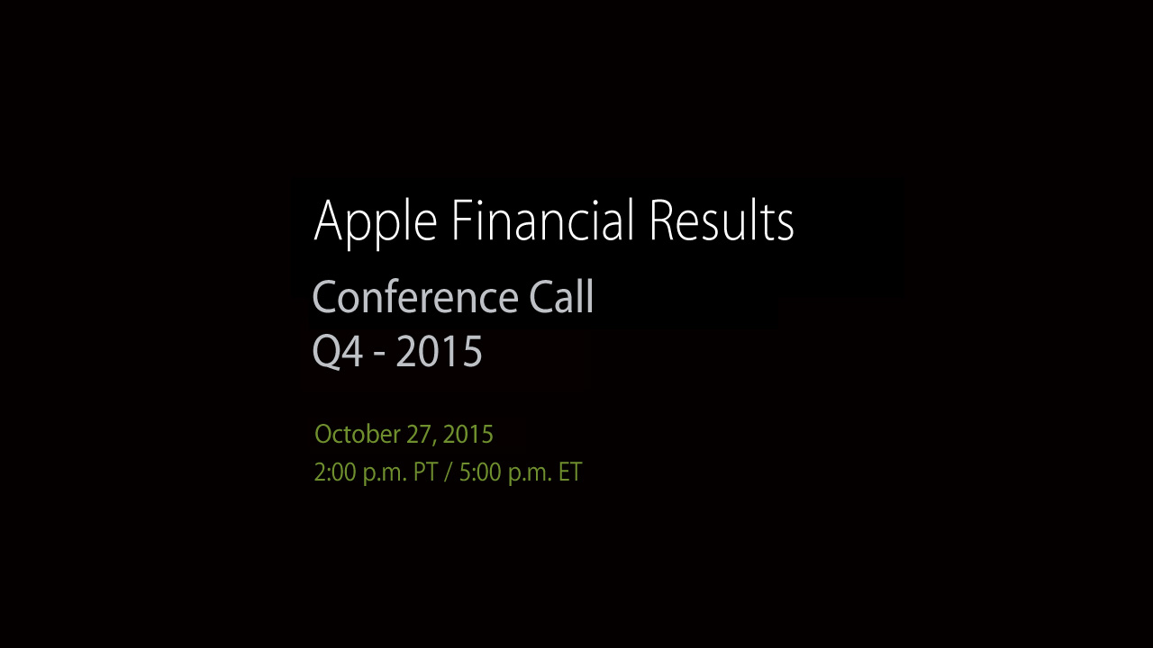 Resultados da Apple para o FQ4 2015