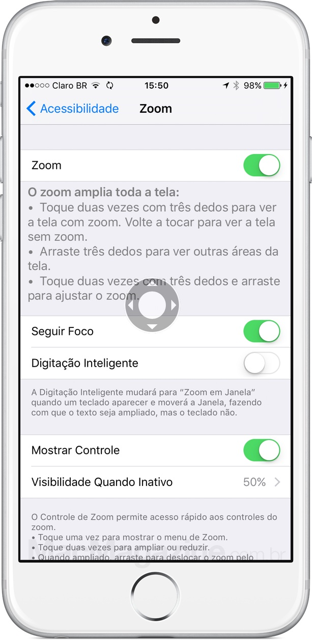 Acessibilidade do 3D Touch