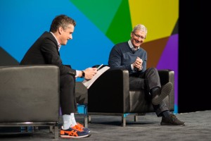 Tim Cook no evento BoxWorks