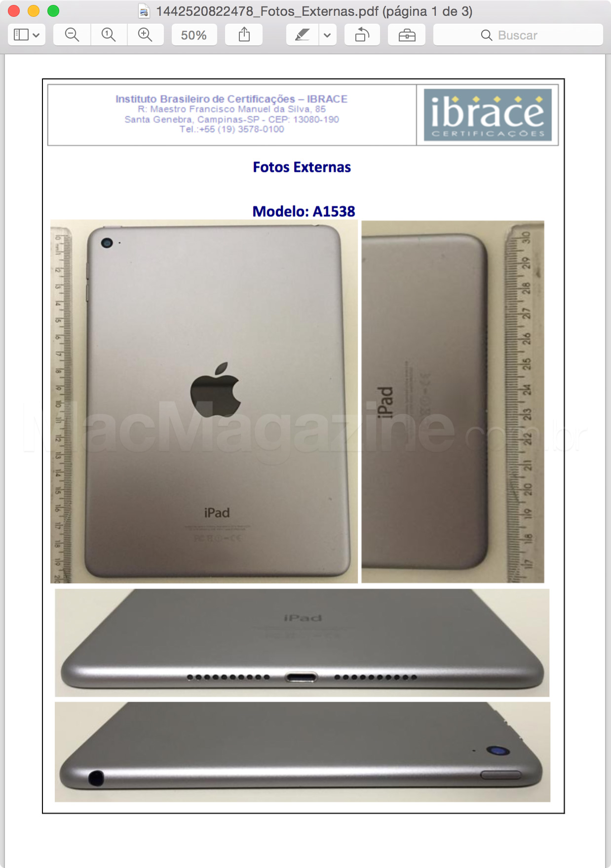 iPad mini 4 homologado