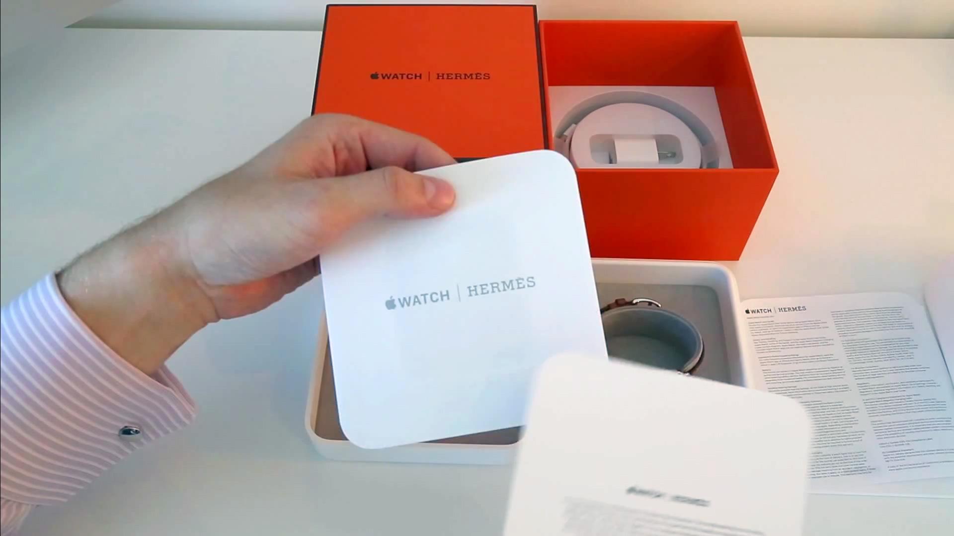 Unboxing do Apple Watch Hermès