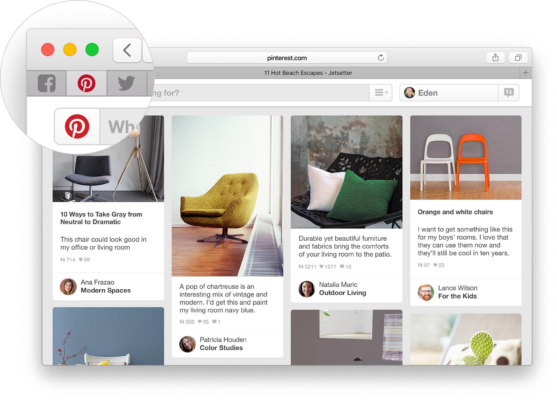 Abas fixas no Safari 9 do OS X El Capitan