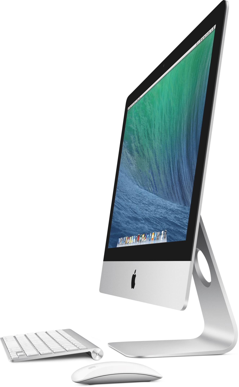 iMac de 21,5 polegadas com teclado e mouse