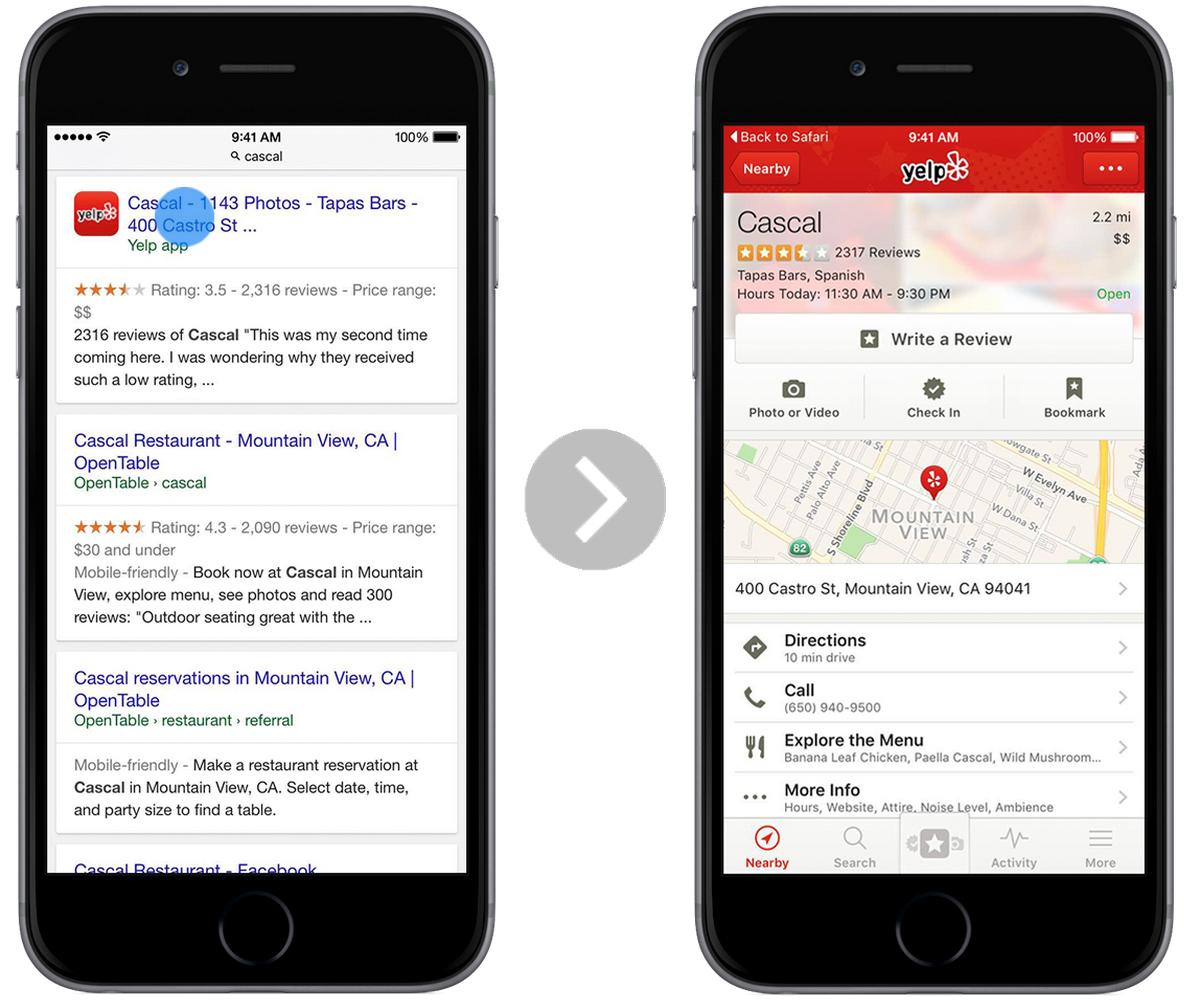 Indexação das buscas do Google
