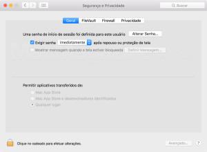 Travando o seu Mac