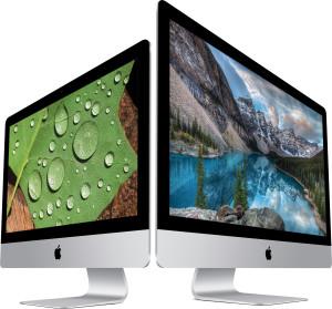 iMacs com tela Retina lado a lado