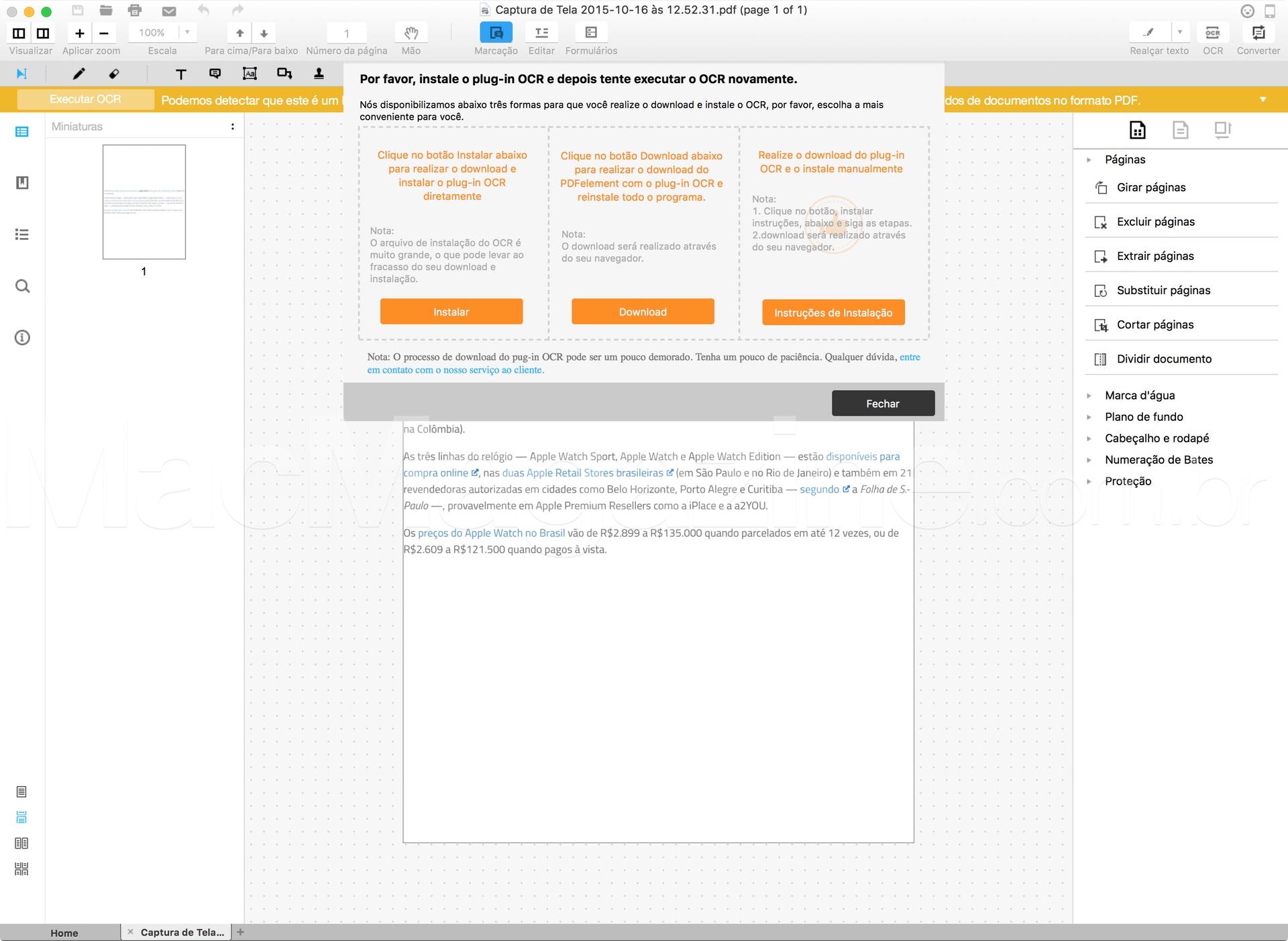 Wondershare PDFelement para Mac