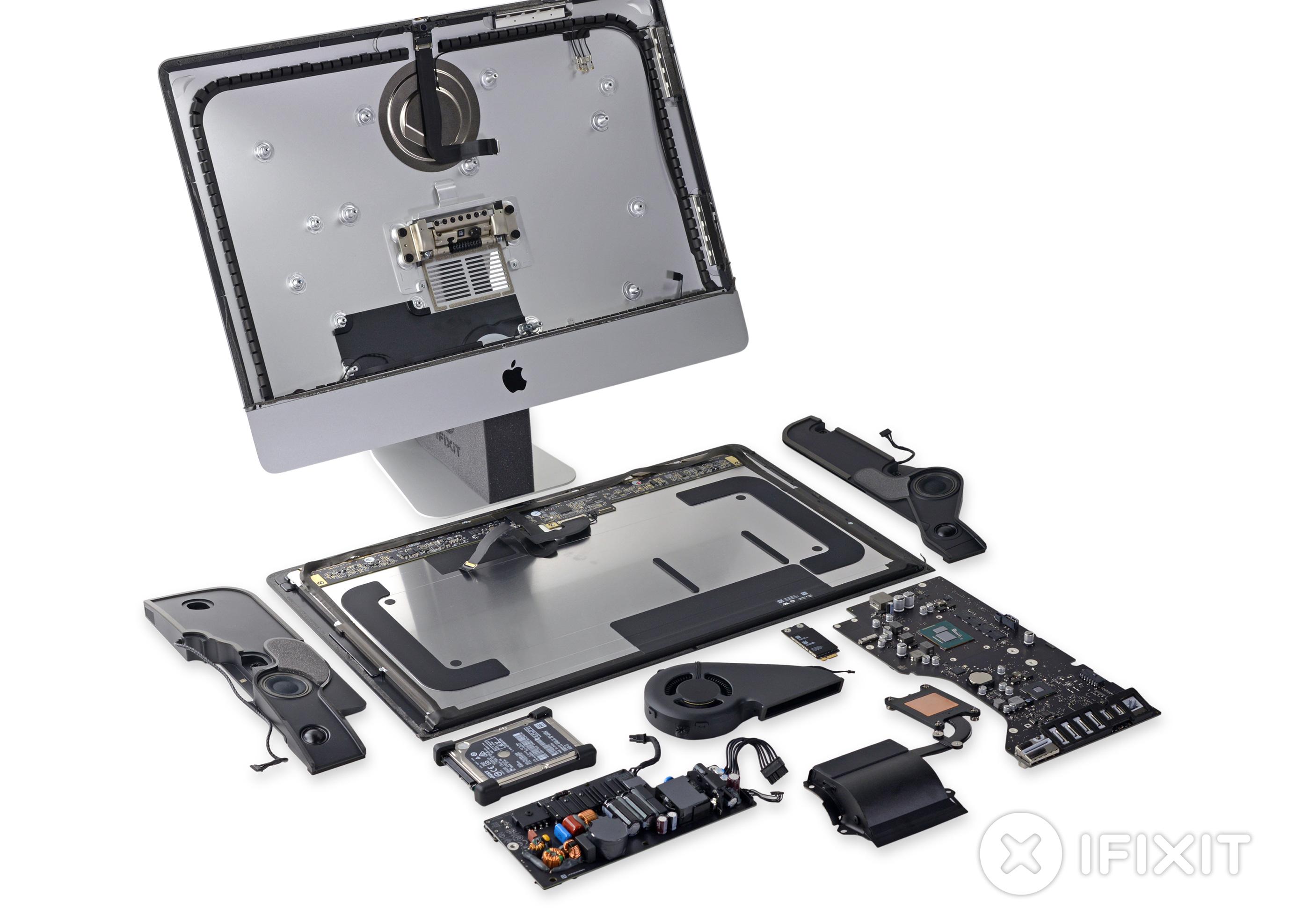 iMac de 21,5 polegadas com tela Retina 4K desmontado pela iFixit