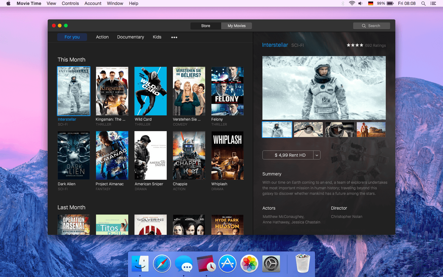 iTunes - Movie Time